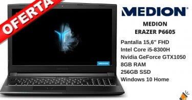 oferta MEDION ERAZER P6605 barato SuperChollos