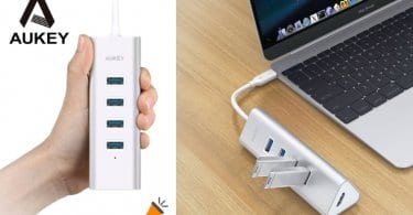 oferta AUKEY USB C Hub barato SuperChollos