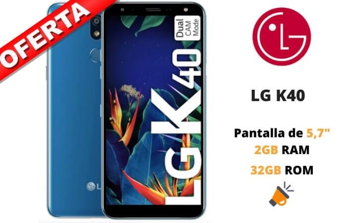 LG K40 barato SuperChollos