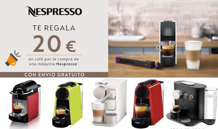 OFERTÓN! 20€ GRATIS en café al comprar una Nespresso en Amazon