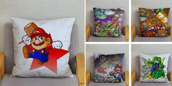 Fundas de coji%CC%81n Super Mario Bros baratas SuperChollos