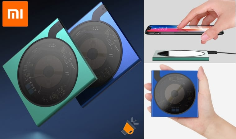 oferta Cargador inala%CC%81mbrico Qi Xiaomi Mijia VH C04 barato SuperChollos