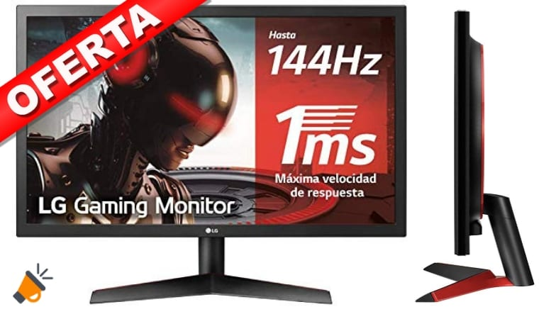 oferta LG 24GL600F B Monitor Gaming barato SuperChollos