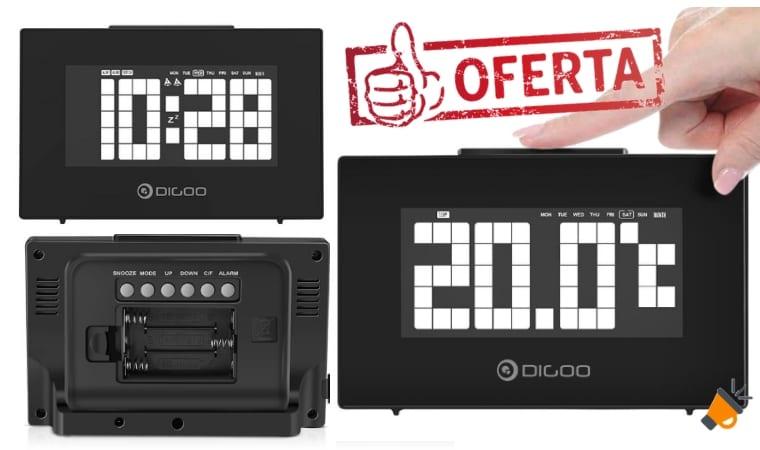 oferta Reloj despertador Digoo DG C9 barato SuperChollos