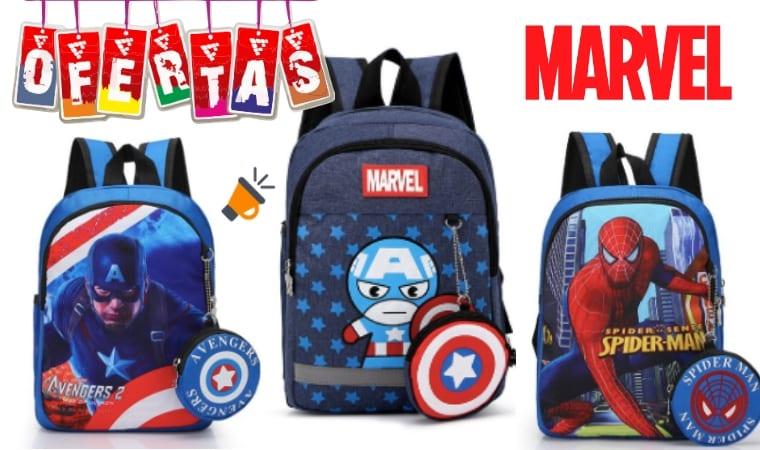 oferta Mochilas escolares Marvel baratas SuperChollos
