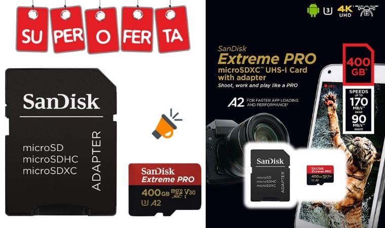 oferta SanDisk Extreme PRO microsd barata SuperChollos