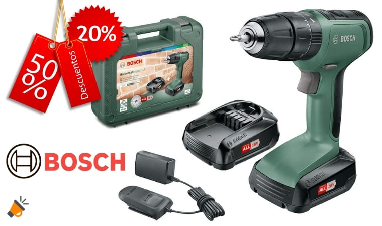 oferta Bosch UniversalImpact 18 Taladro barato SuperChollos