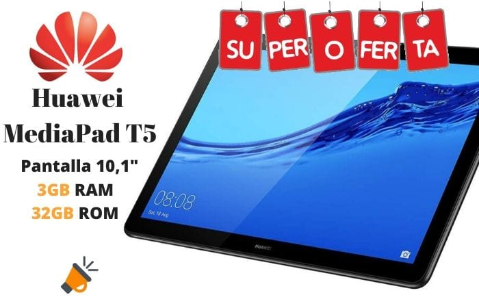 oferta Huawei MediaPad T5 Tablet barata SuperChollos