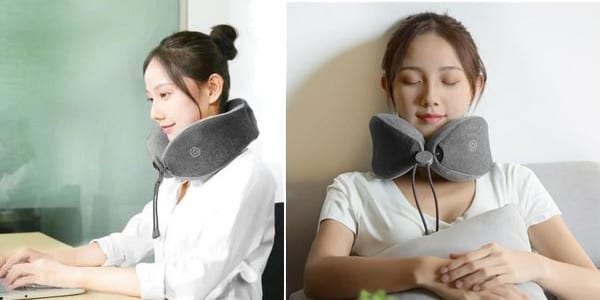 almohada ajustable masaje cuello xioami chollo barato SuperChollos