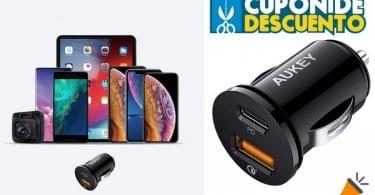 oferta AUKEY USB C PD Cargador de Coche barato SuperChollos