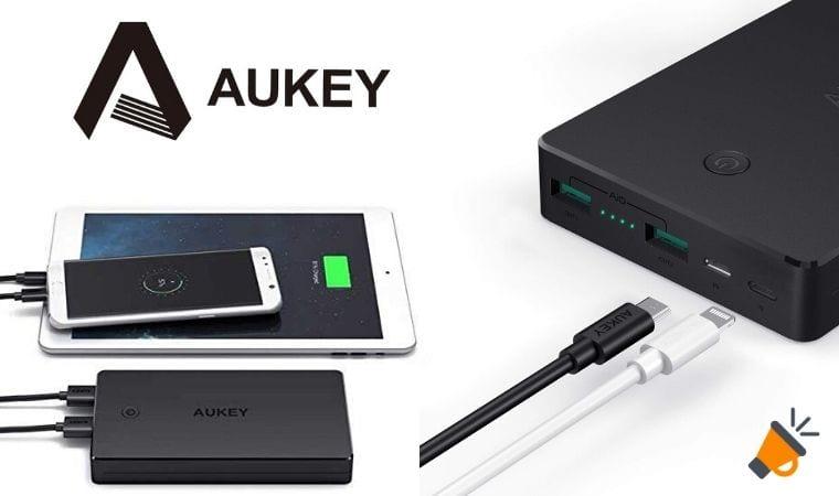 oferta AUKEY Powerbank 20000mAh barata SuperChollos