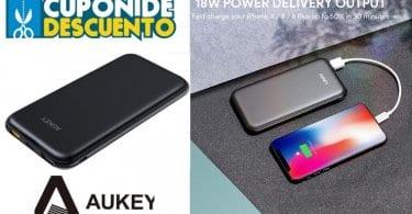 oferta AUKEY Powerbank USB C barata SuperChollos