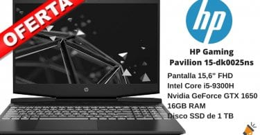 oferta HP Gaming Pavilion 15 dk0025ns barato SuperChollos