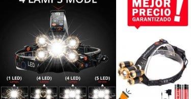 oferta linterna LED frontal trilife barata SuperChollos