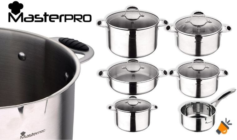 oferta Masterpro Pk1682 bateri%CC%81a cocina barata SuperChollos