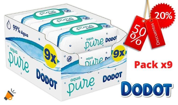 oferta Dodot Aqua Pure Toallitas Bebe%CC%81 baratas SuperChollos
