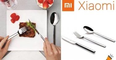 oferta Xiaomi Mijia Huohou cuberteria barata SuperChollos