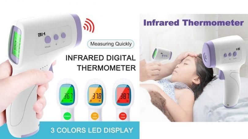 Termo%CC%81metro infrarrojo de temperatura de frente sin contacto SuperChollos
