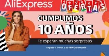 aliexpress 10 aniversario SuperChollos