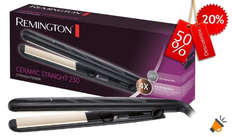 oferta Remington Ceramic Slim S3500 Plancha de Pelo barata SuperChollos