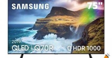 oferta Samsung QE75Q70R smart tv barata 1 SuperChollos