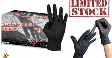 guantes de nitrilo baratos SuperChollos