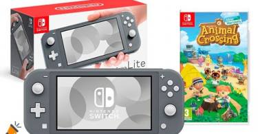 oferta Nintendo Switch Lite Animal Crossing barata SuperChollos