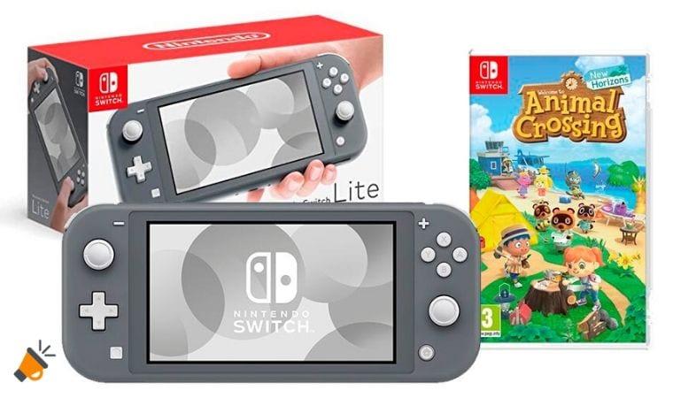 oferta Nintendo Switch Lite Animal Crossing barata SuperChollos