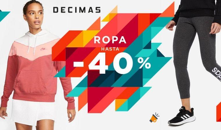 REBAJAS DÉCIMAS! Hasta el 40% DTO. en ropa deportiva para mujer