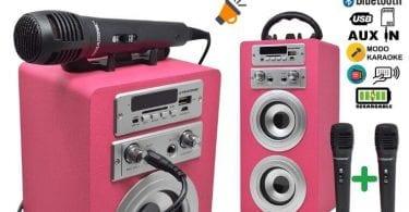 OFERTA DYNASONIC Altavoz Bluetooth con Karaoke BARATO SuperChollos
