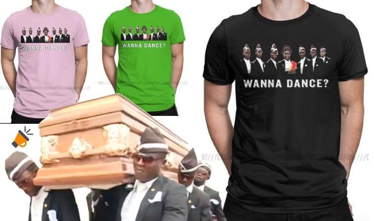 camiseta baile negros ataud SuperChollos