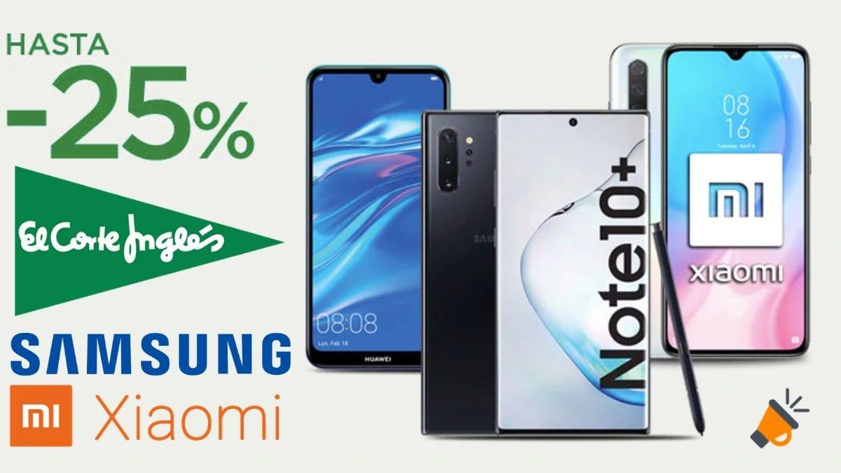 48 Dto En Móviles Xiaomi Y Samsung En El Corte Inglés