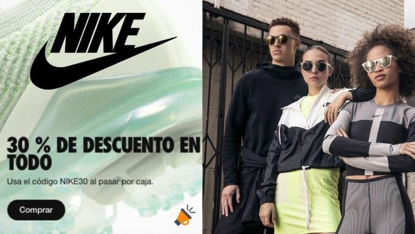 Impuestos probabilidad temporal  Cupón 30% EXTRA en TODA la tienda oficial Nike ¡CORRE!