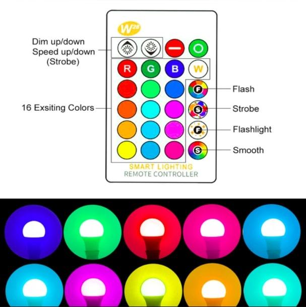 Bombilla RGB con mando barata SuperChollos