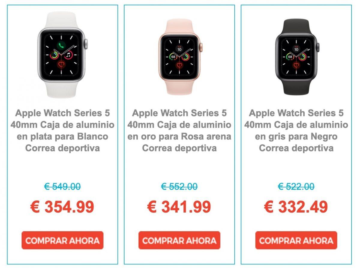 Ofertas Apple Watch Series 5 eglobalcentral scaled SuperChollos