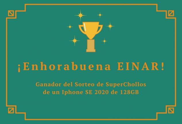 Ganador Sorteo Iphone SE 2020 junio 2020 SuperChollos