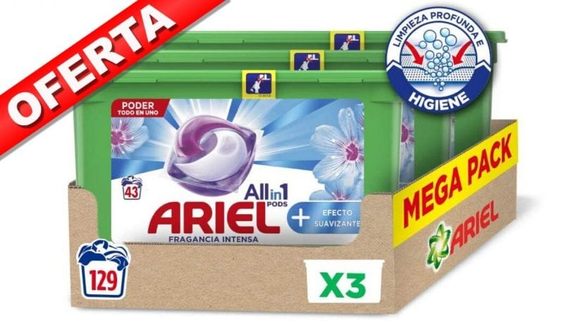 oferta pack Ariel 3 en 1 PODS barato SuperChollos