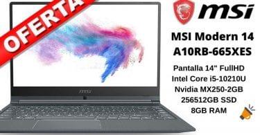 oferta MSI Modern 14 A10RB 665XES barato SuperChollos