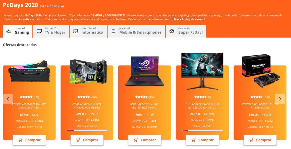 Ofertas destacadas PC days pccomponentes 2020 superchollos  scaled SuperChollos