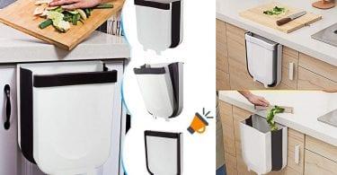 oferta Cubo de basura plegable TTmow barato SuperChollos