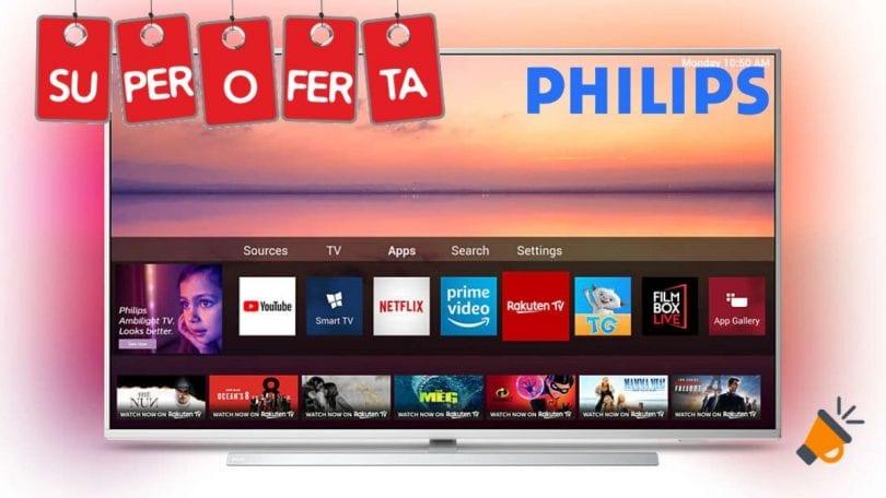 oferta Philips 55PUS6804 smart tv barata SuperChollos