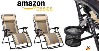 oferta AmazonBasics sillas playa baratas SuperChollos