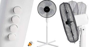 oferta Ventilador de pie AmazonBasics barato SuperChollos