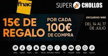 fnac cupon regalo 15 euros SuperChollos