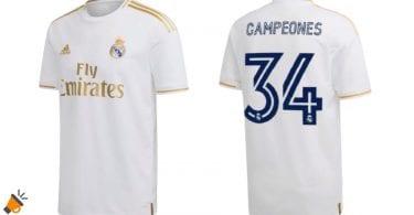 oferta Camiseta Real Madrid Campeones barata SuperChollos