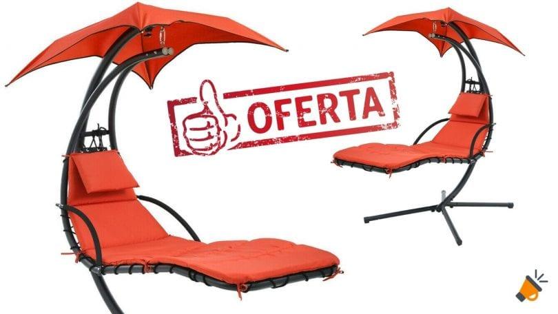 oferta Tumbona Colgante con Sombrilla barata SuperChollos