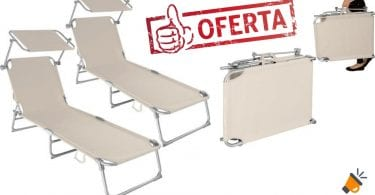 oferta tumbonas reclinables tectake baratas SuperChollos