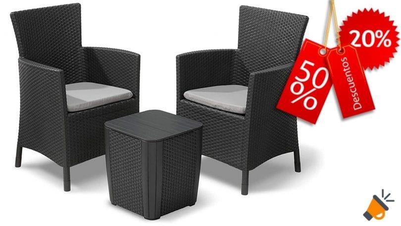 oferta muebles de jardi%CC%81n Keter Iowa barato SuperChollos