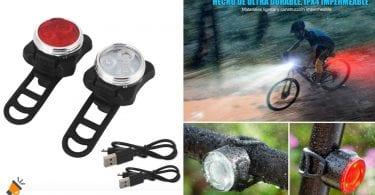 oferta luces bicicleta baratas SuperChollos