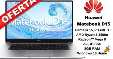 oferta Huawei Matebook D15 barato SuperChollos